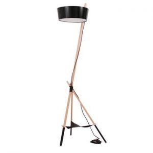 Lampadar cu spațiu de stocare Woodendot Ka L, negru