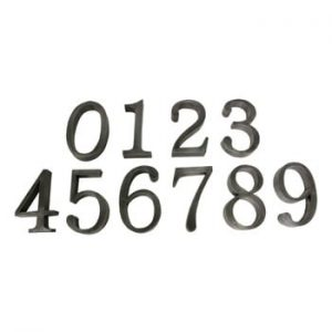 Set 9 numere decorative Antic Line
