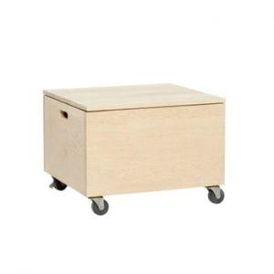 Cutie pentru depozitare pe roți din lemn de stejar Hübsch Oak Wooden Box