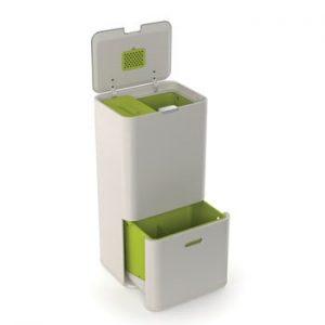 Coș pentru deșeuri reciclabile Joseph Joseph IntelligentWaste Totem 60, verde