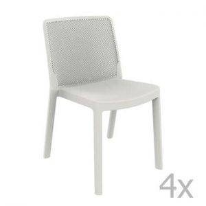 Set 4 scaune de grădină Resol Fresh Garden, alb