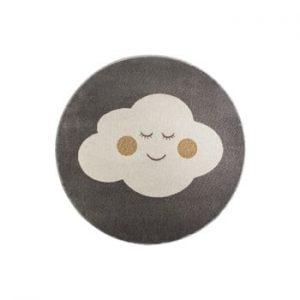 Covor rotund KICOTI Cloud, ø 100 cm, gri-alb