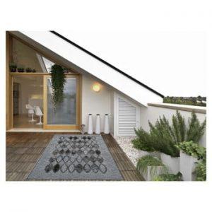 Covor foarte rezistent Floorita Ethnic Grey, 135 x 190 cm