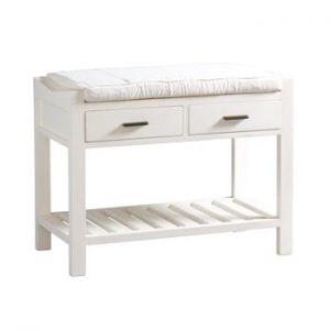 Băncuță hol cu sertar Santiago Pons Idaho, alb