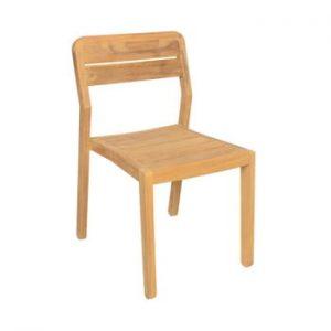 Set 2 scaune de grădină din lemn de tec Ezeis Navy