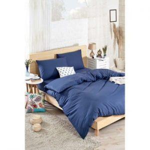 Lenjerie de pat cu cearșaf din bumbac și 2 fețe de pernă Mena, 200 x 220 cm