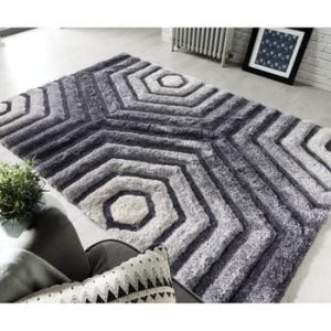 Covor Flair Rugs Hexagon Grey, 80 x 150 cm, gri