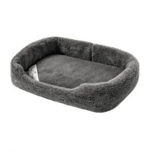 Pat coș din lână merino, pentru animale de companie Royal Dream, lățime 60 cm, gri închis