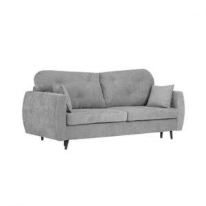 Canapea extensibilă cu 3 locuri și spațiu pentru depozitare Kooko Home Bluzz, gri