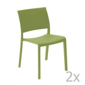 Set 2 scaune de grădină Resol Fiona, verde