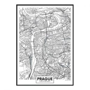 Poster DecoKing Map Prague, 50 x 40 cm