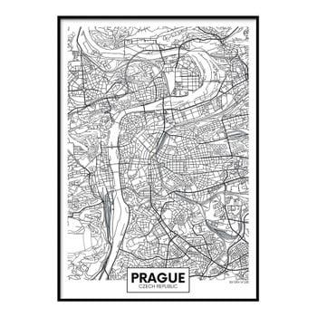 Poster DecoKing Map Prague, 50 x 40 cm