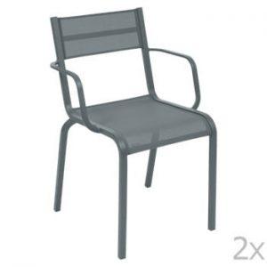 Set 2 scaune de grădină Fermob Oléron Arms, gri închis