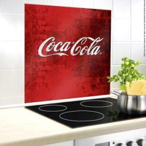 Protecție din sticlă pentru capacul aragazului Wenko Coca-Cola Classic, 70x60cm