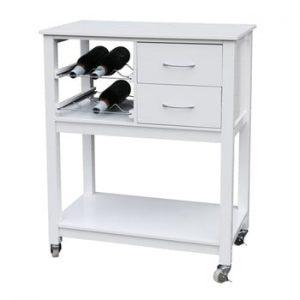 Raft de bucătărie din lemn Premier Housewares, alb