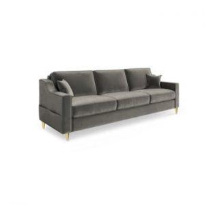 Canapea extensibilă cu 3 locuri Mazzini Sofas Marigold, gri închis