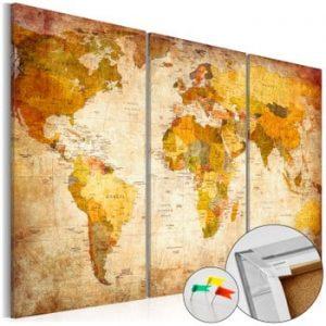 Hartă decorativă a lumii Artgeist Antique Travel 90 x 60 cm