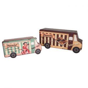 Set 2 cutii Antic Line Biscuit Van