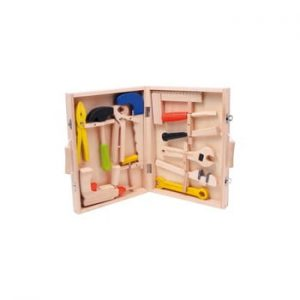 Set unelte și cutie din lemn pentru copii Legler Toy