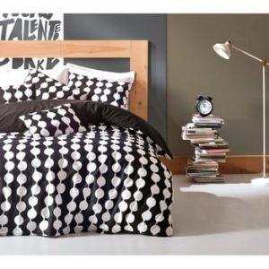 Lenjerie de pat cu cearșaf din bumbac și 2 fețe de pernă Merga, 200 x 220 cm