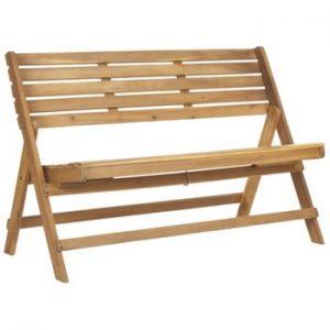 Bancă pliabilă pentru grădină din lemn de acacia Safavieh Ferrat, maro