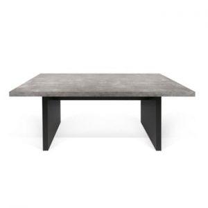 Masă în decor de beton TemaHome Detroit, 160 x 72 cm, negru