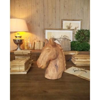 Decorațiune din lemn de mango Orchidea Milano Horse, înălțime 31 cm