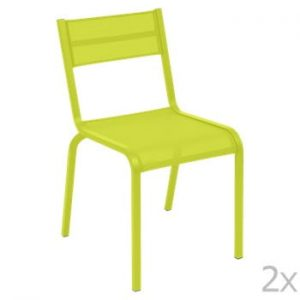 Set 2 scaune de grădină Fermob Oléron, verde deschis