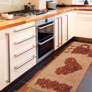 Covor de bucătărie foarte rezistent Floorita Coffee, 60x150cm