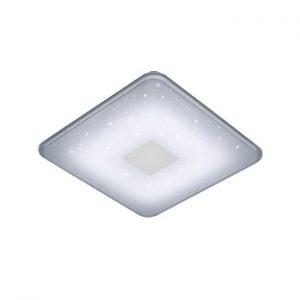 Plafonieră LED cu telecomandă Trio Samurai, 42,5 x 42,5 cm, alb