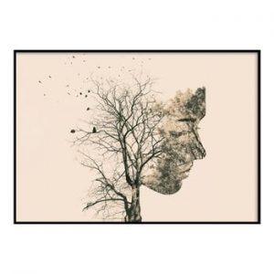 Poster DecoKing Girl Silhouette Tree, 50 x 40 cm