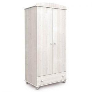 Dulap cu 2 uși din lemn de pin Faktum Tomi, alb