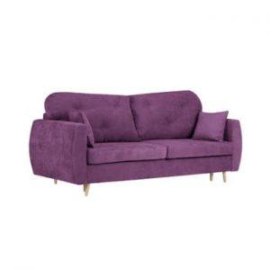Canapea extensibilă cu 3 locuri și spațiu pentru depozitare Kooko Home Viola, mov