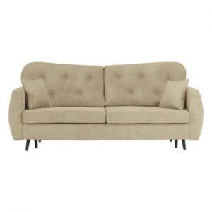 Canapea extensibilă cu 3 locuri și spațiu pentru depozitare Mazzini Sofas Popy, bej