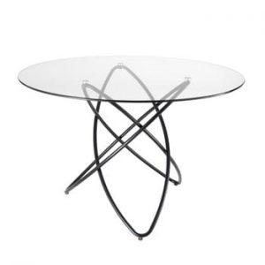 Masă cu blat din sticlă Tomasucci Hula Hoop, ⌀ 120 cm
