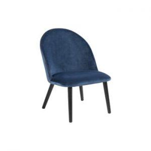 Scaun tapițat Actona Manley, albastru