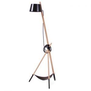 Lampadar cu spațiu de stocare Woodendot Ka M, negru