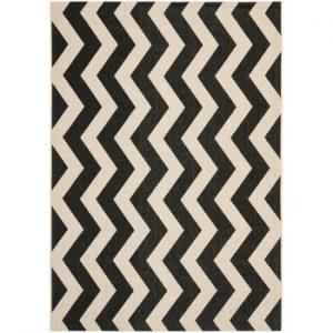 Covor potrivit pentru exterior Safavieh Amalfi Black, 289 x 200 cm