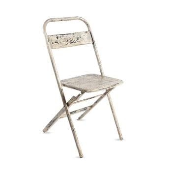 Scaun pliabil din metal cu patină RGE Mash, alb