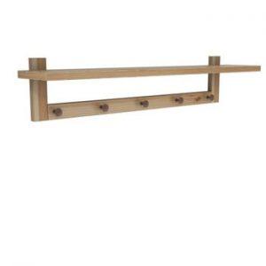 Poliță perete din lemn de pin Muzzo Wood Birch, lungime 80 cm
