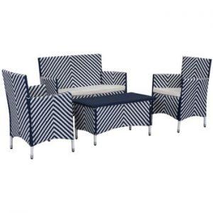 Set de mobilier pentru grădină Safavieh Venice, albastru - alb