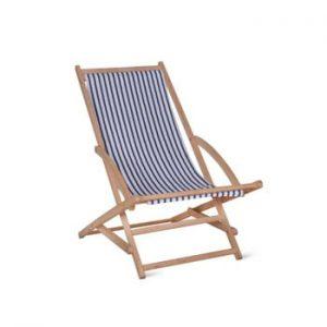 Șezlong de grădină Garden Trading Rocking Deck Chair Blue Stripe