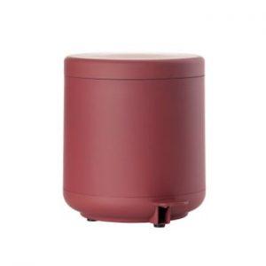 Coș de gunoi cu pedală pentru baie Zone UME, 4 l, roșu