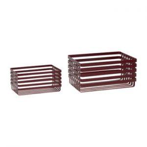 Set 2 coșuri depozitare Hübsch Wire Pantio, roșu
