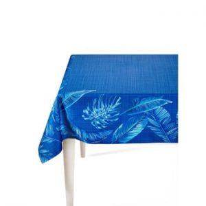 Față de masă The Mia Banana Palm, 150 x 150 cm, albastru