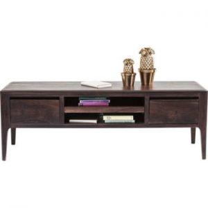Comodă joasp / comodă TV din lemn sheesham Kare Design Brooklyn, maro alună