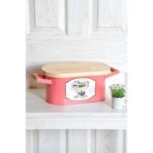 Cutie pentru pâine The Mia Bread, lungime 41 cm, roz