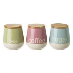 Set recipiente pentru ceai, cafea și zahăr Unimasa