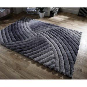 Covor Flair Rugs Furrow Grey, 80 x 150 cm, gri