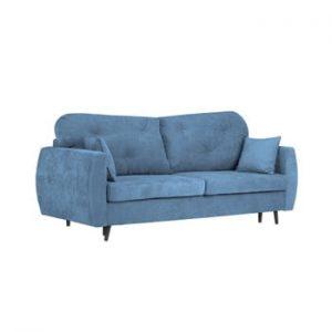Canapea extensibilă cu 3 locuri și spațiu pentru depozitare Kooko Home Bluzz, albastru